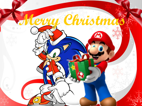 Merry Christmas from Mario And Sonic by Sonamy115 on DeviantArt