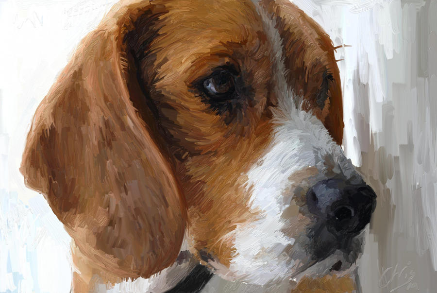 Dog oil painting by kabukiboy1976 on deviantart for Painting of your dog