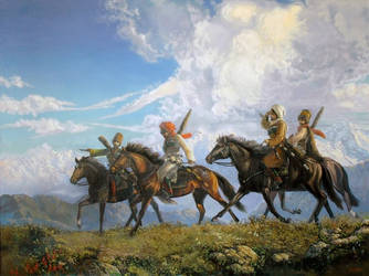 Circassian warriors by Cherkes777