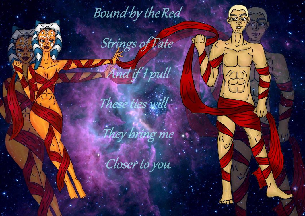 Red Ties of Destiny Rexsoka by jennamimi