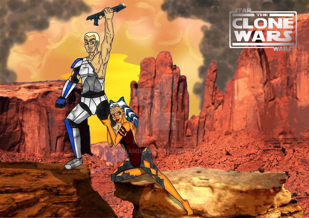 Rexsoka Movie Poster Clone Wars by jennamimi