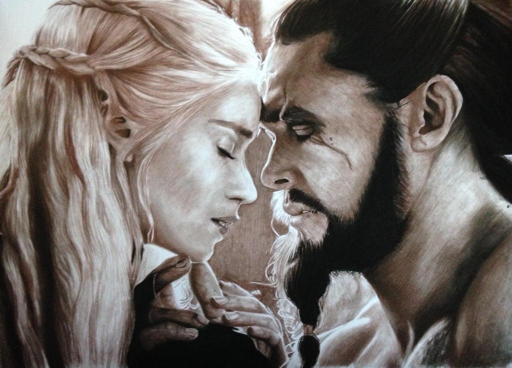 Khal drogo and daenerys wallpaper