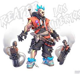Los Muertos Reaper fanart by GrayShuko