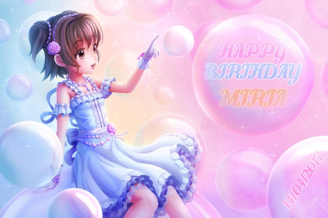 Happy Birthday Miria 2017 by Solmyr2000