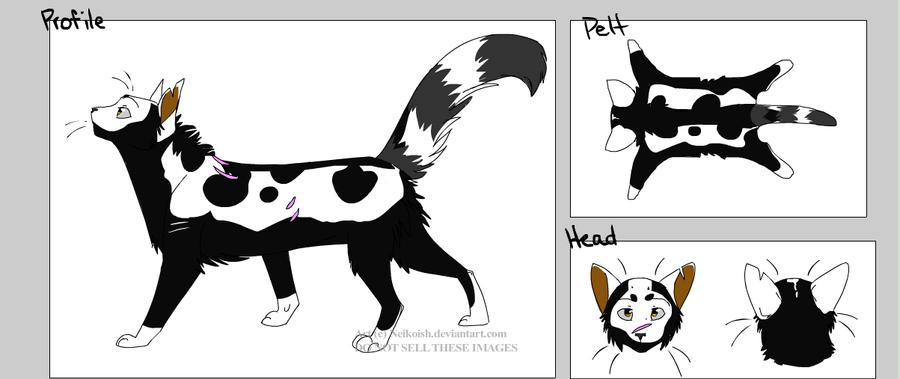 Warriors badgermask neikoish cat creator by bogeycroatia on