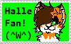 Halle Fan Stamp by S1LKST3RK4T