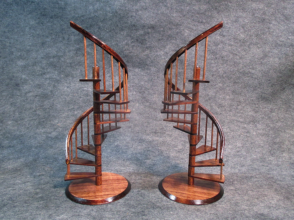 Beautiful Miniature Spiral Staircase In Mahogany Finish By Scalecreations1 ...