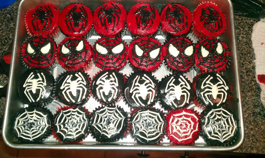 Spiderman Cupcakes by iBEurNoob