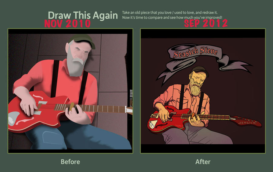 Draw this again: Seasick Steve by geovv