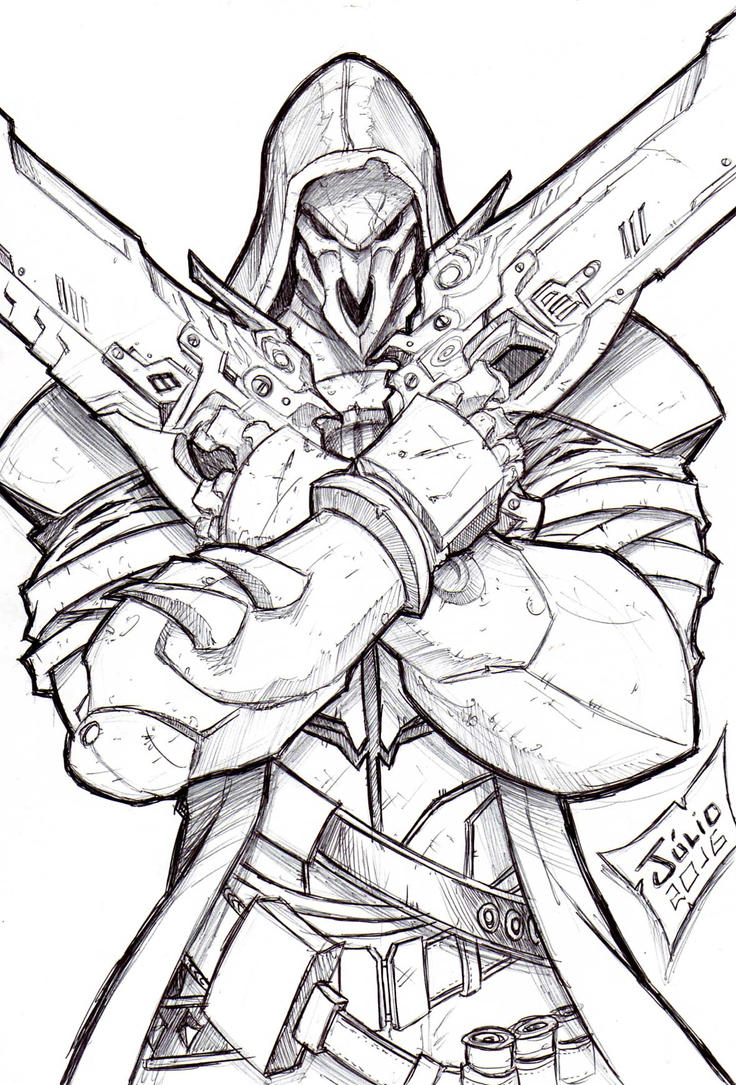 Overwatch Reaper Coloring Pages