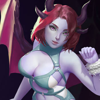 Dragon girl by olesyaspitz