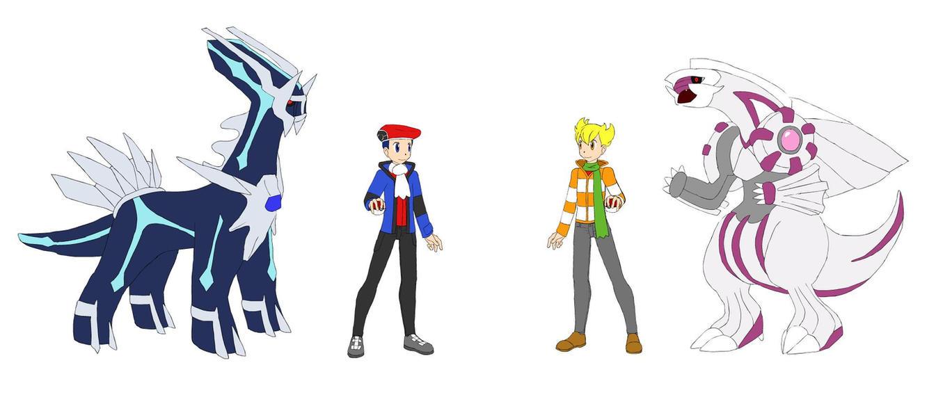 pokemon platinum how to get dialga and palkia