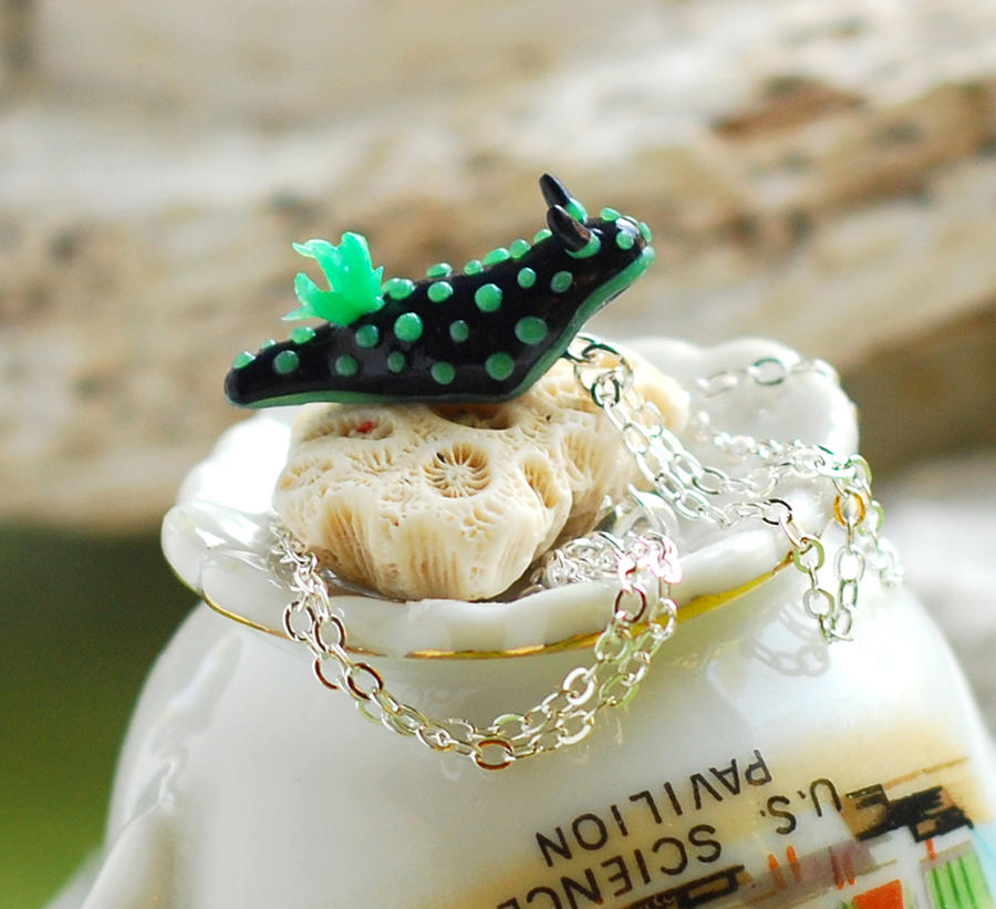 Nembrotha Cristata Nudibranch Necklace by octopus-interphone