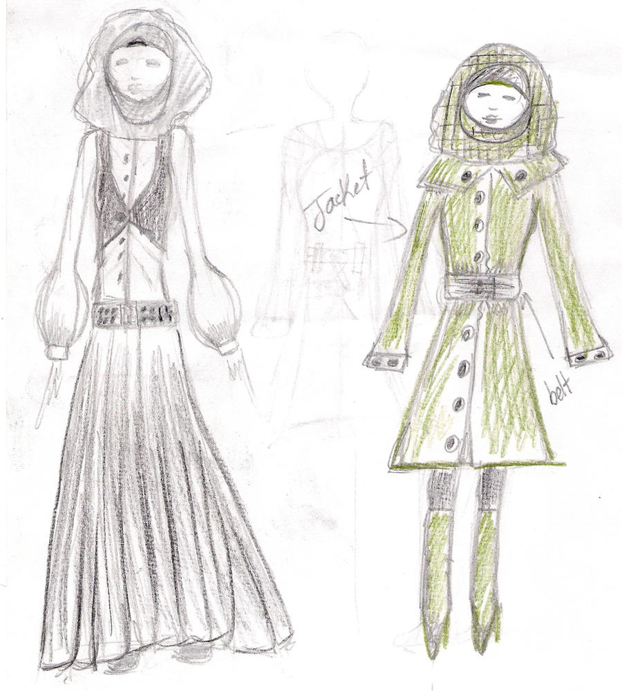 Hijab Fashion Sketches By XMiserybusinessX On DeviantArt