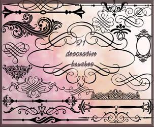 21 decorative brushes