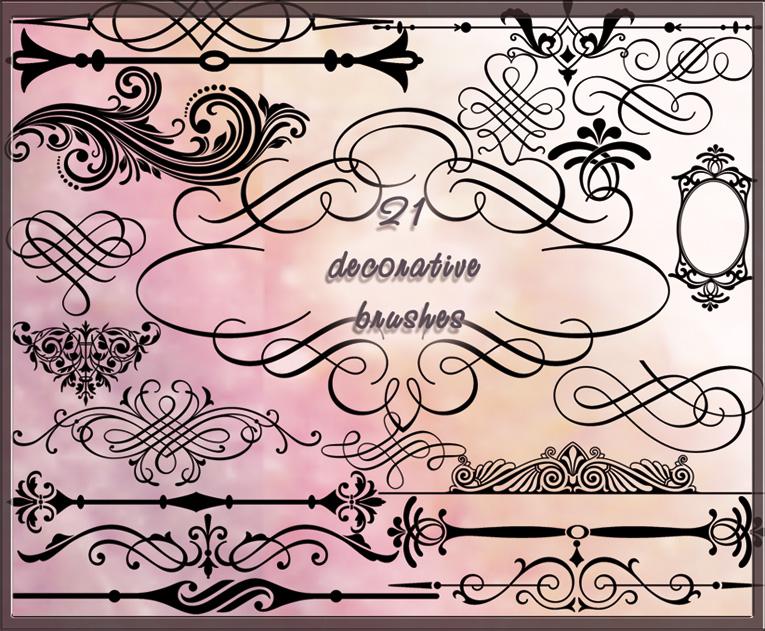 21 decorative brushes by Lyotta