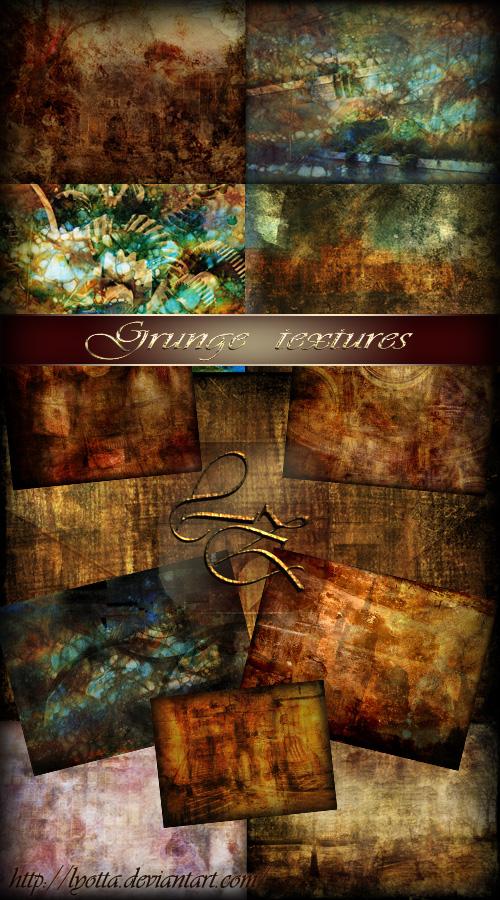 Grunge textures by Lyotta