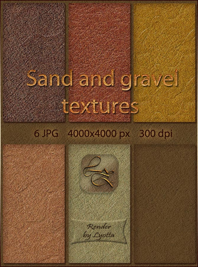 Sand and gravel textures by Lyotta
