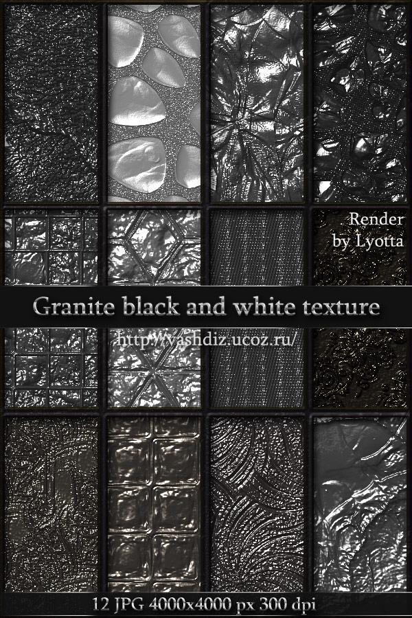 Granite black and white texture by Lyotta