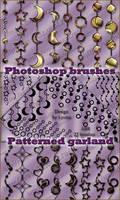 Photoshop brushes - Patterned Garland