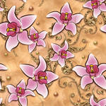seamless texture with flowers and  ornaments