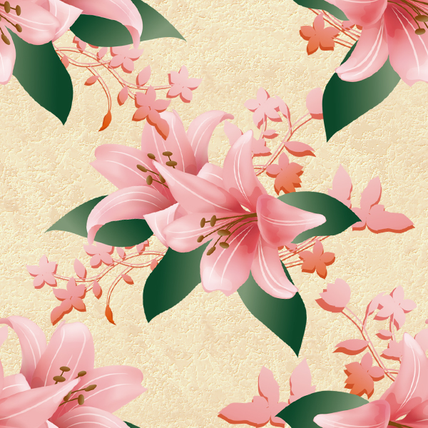 Seamless Texture With Flowers And Ornaments By Lyotta On