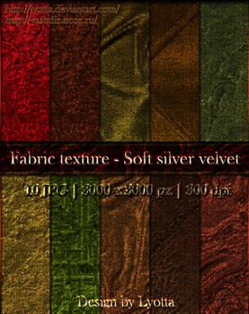 Fabric texture - Soft silver velvet