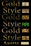 Styles for Photoshop Classic gold metal 2