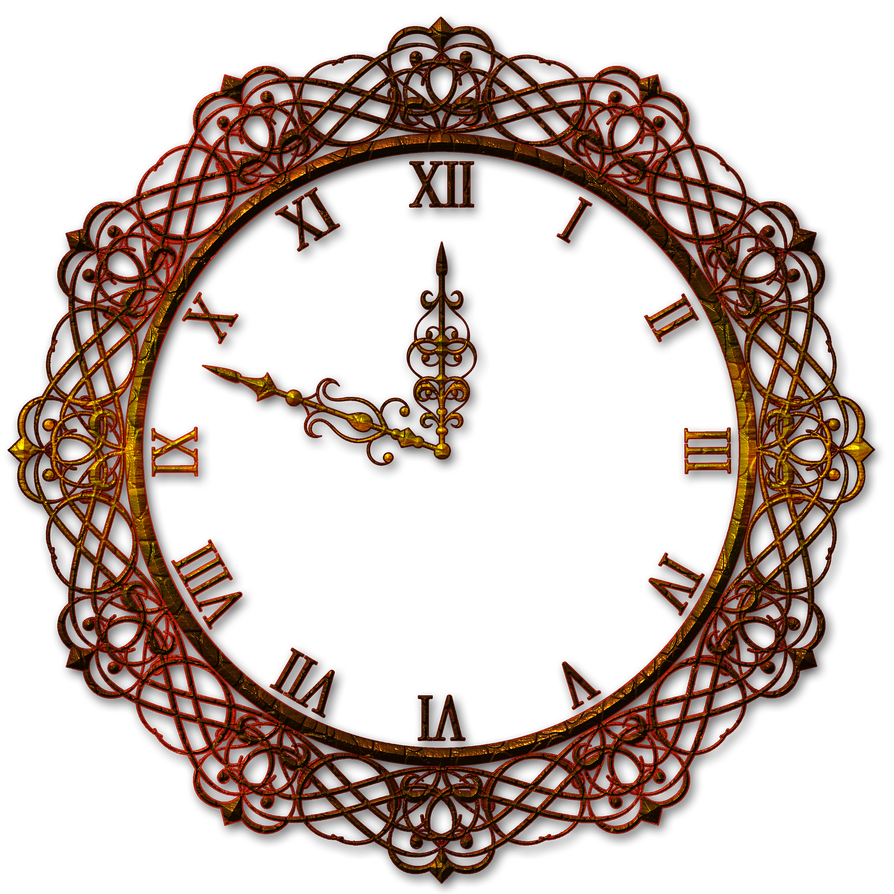 decorative wall clock by lyotta on deviantart