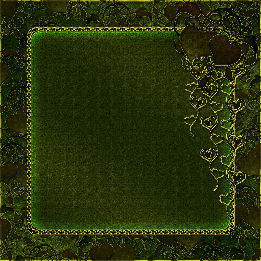 green hearts background - photo #32