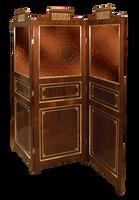 mahogany 3 fold screen by Lyotta