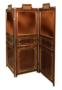 mahogany 3 fold screen
