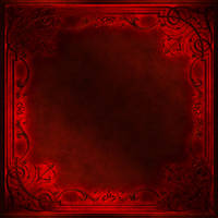 Frame with a red decor by Lyotta