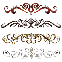 Vintage borders with gems by Lyotta