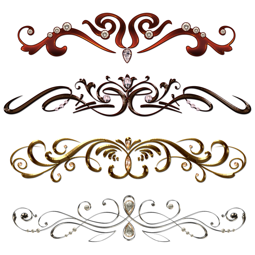 Vintage borders with gems by lyotta on deviantart for Classic border design
