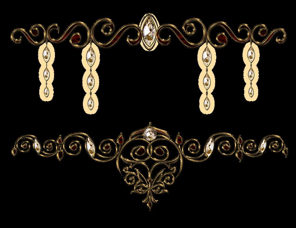 Decorative jewelery with precious stones by Lyotta