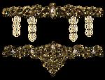 Decorative jewelery with precious stones