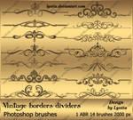Vintage borders dividers