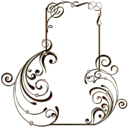 Golden frame with jewels by Lyotta