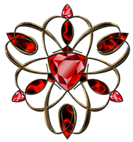 Jewelry ruby decoration in gold by Lyotta
