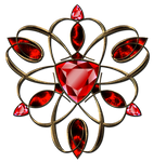 Jewelry ruby decoration in gold