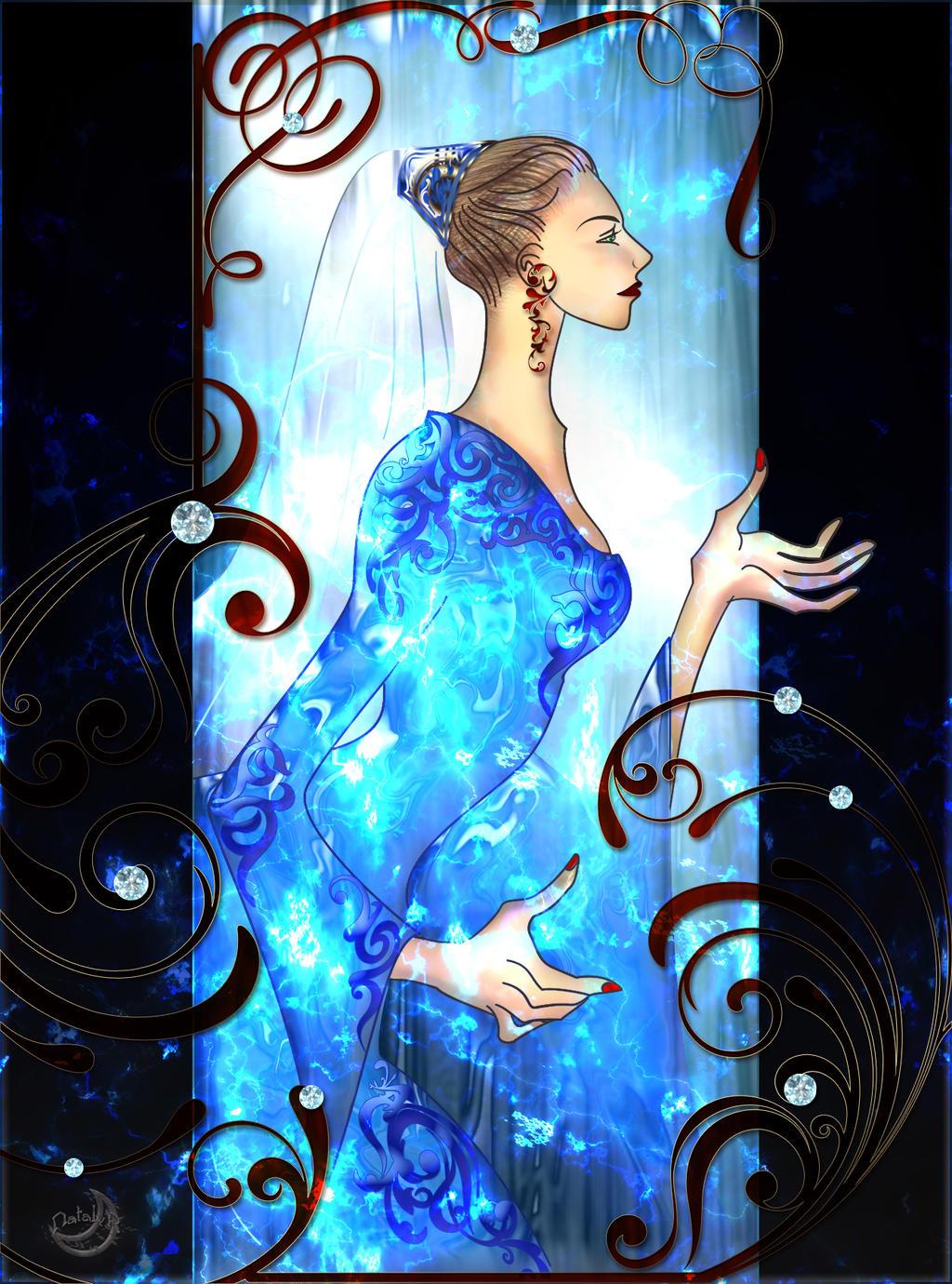Indigo-blue Queen. Kazuki-sensei by Lyotta