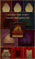Backgrounds empty rooms. Clipart curtains