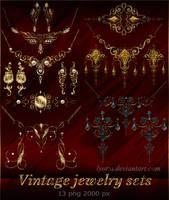 Vintage jewelry sets by Lyotta