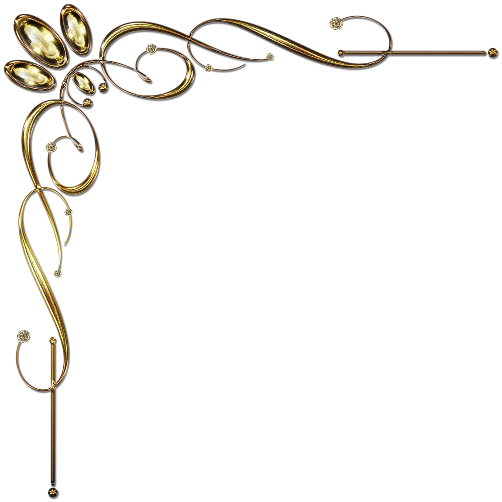 Golden Corner Ornament 1 by Lyotta on DeviantArt