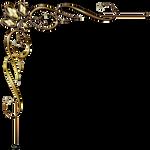 Golden Corner Ornament 1