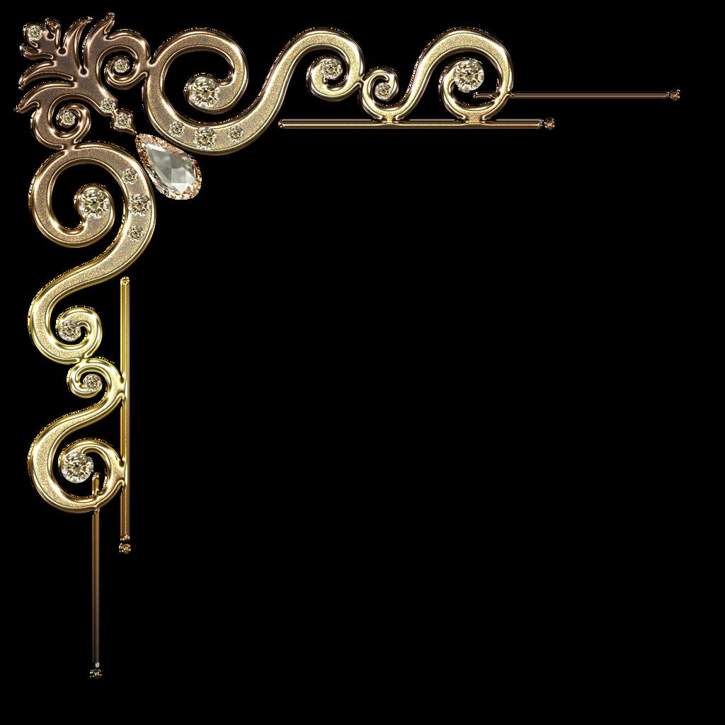 Decorative corner with citrine in gold by Lyotta on DeviantArt