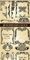 Art Nouveau design collection. Vector set