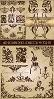 Art Nouveau design collection. Vector set 2