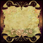 Vintage decor frame background